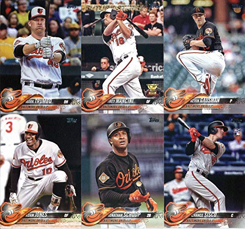 Baltimore Orioles 2018 Topps MLB Baseball Complete Mint Hand Collated 23 Card Team Set with Trey Mancini, Chris Davis and Adam Jones Plus