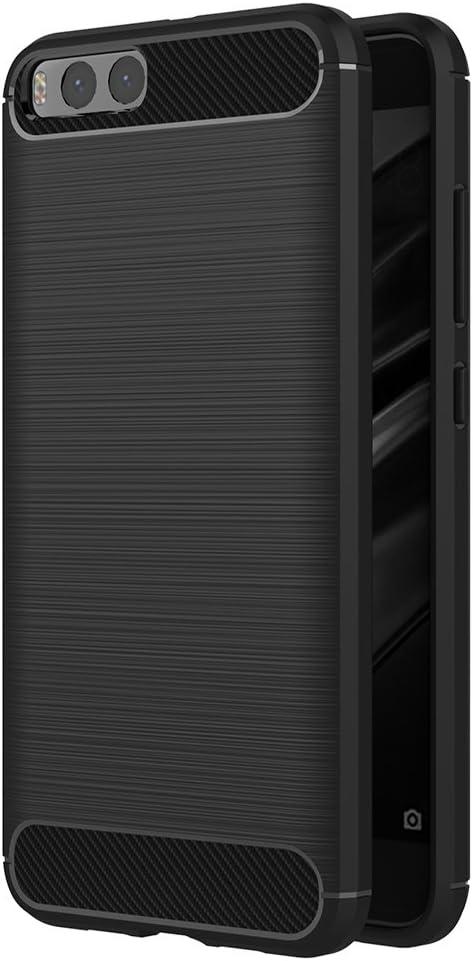 Xiaomi Mi 6 Cover, AICEK Czarny Xiaomi Mi 6 Silicone Case Miękka czarna Pokrywa dla Xiaomi 6 Soft TPU Case