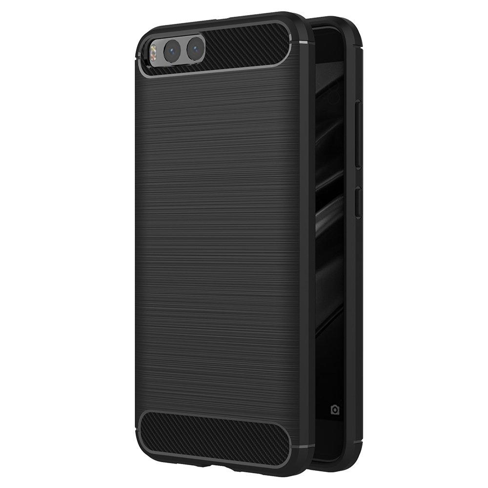 Xiaomi Mi 6 Cover, AICEK Black Xiaomi Mi 6 Silicone Case Soft Black Cover for Xiaomi 6 Soft TPU Case