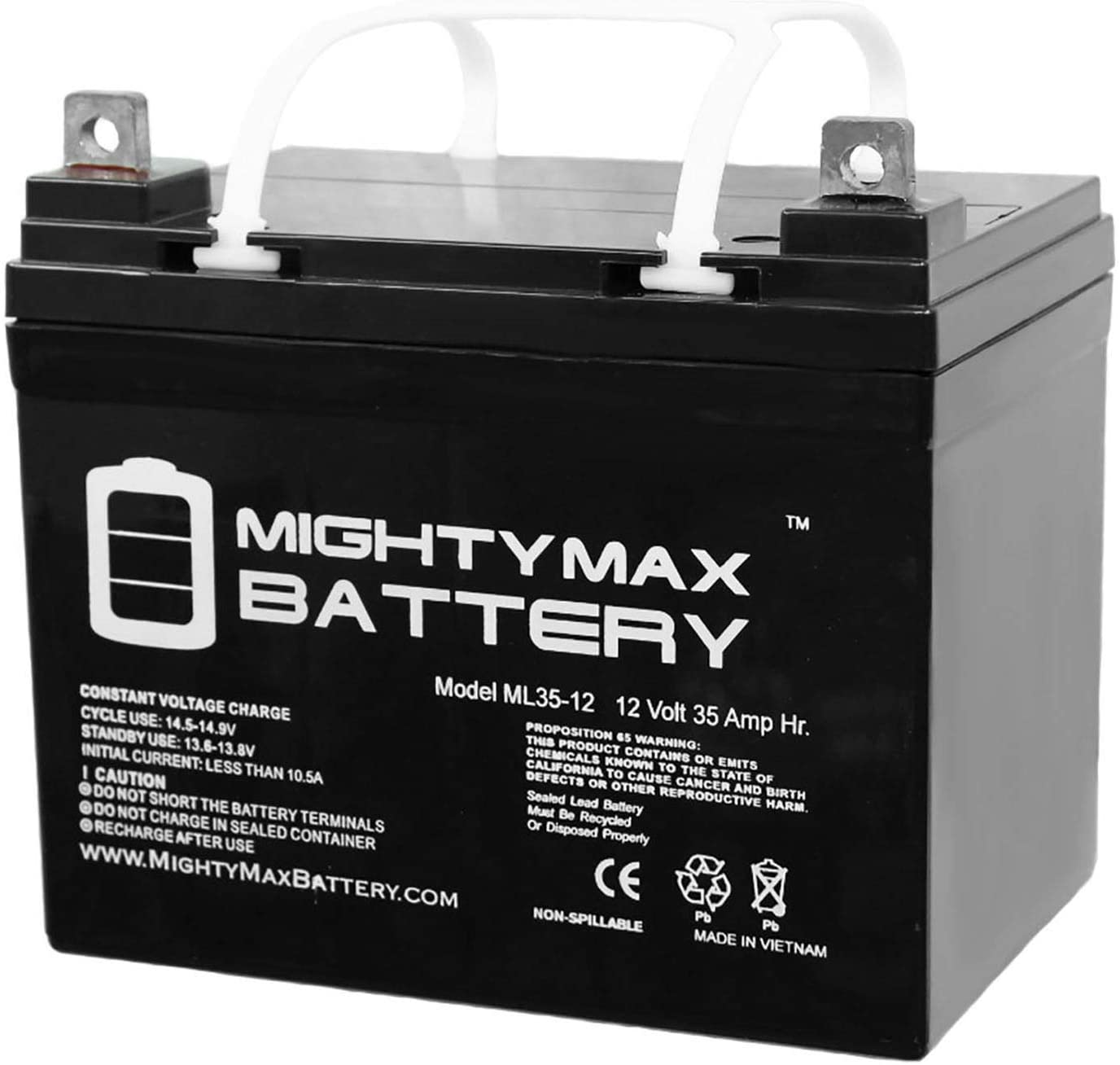 Amazon Com Mighty Max Battery 12v 35ah Sla Battery Replaces Apollo 1550etl Swing Gate Opener Brand Product Home Improvement