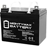 Mighty Max Battery ML35-12 - 12V 35AH U1 Deep Cycle AGM Solar Battery Replaces 33Ah, 34Ah, 36Ah Brand Product