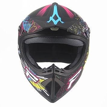 Lidauto Casco de Moto Motocross Off Road Racing Hombres Pirate Graffiti de Calidad Superior,L