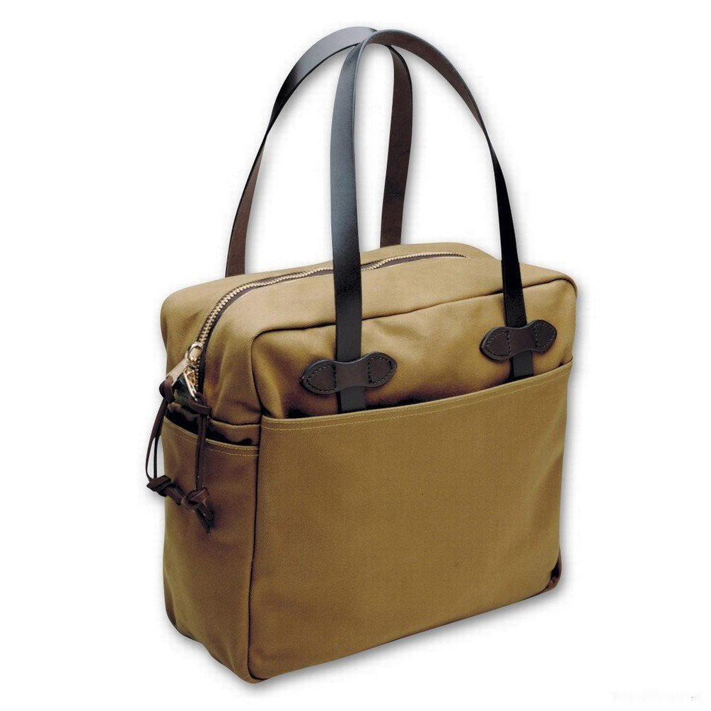 Filson- Tote Bag With Zipper Style 261- Tan by Filson (Image #1)