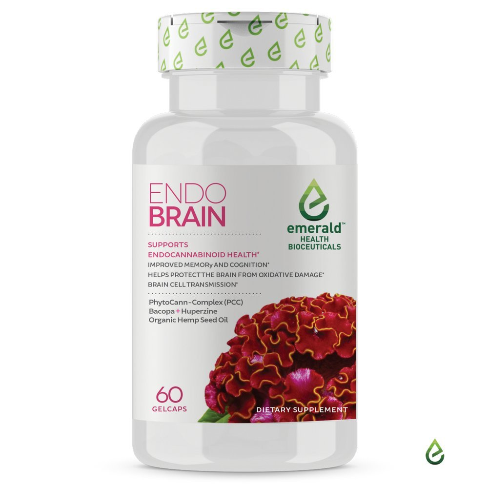 Emerald Health Endo Brain Herbal Brain Supplement Supports Improved Focus and Clarity - 60 Gel Caps