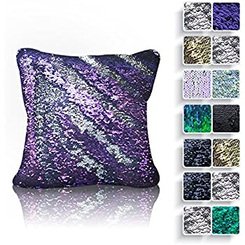 Amazon Magic Mermaid Sequin 16x16 Inch Throw Pillow Cover