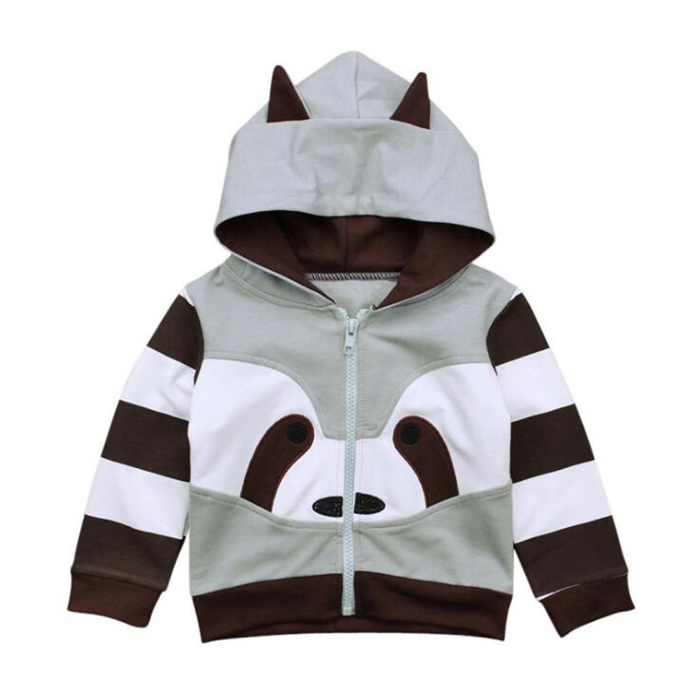 Dragon Honor Toddler Raccoon Hoodie Jacket Baby Infant Boys Girls Unisex Zipper Coats