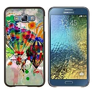For Samsung Galaxy E7 E700 Case , Diseño Globos del aire caliente- Diseño Patrón Teléfono Caso Cubierta Case Bumper Duro Protección Case Cover Funda