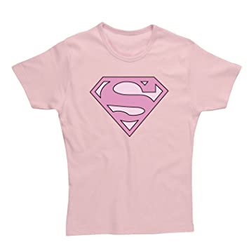 4e82b0ccb SPK Wear - Superman Ladies T-Shirt Supergirl Pink Logo Size L   Amazon.co.uk  Music