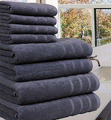 8PCS Set Juego de Toallas Resistentes a la decoloraci/ón 500 g//m/² Azul Cotton Club 100/% algod/ón Egipcio
