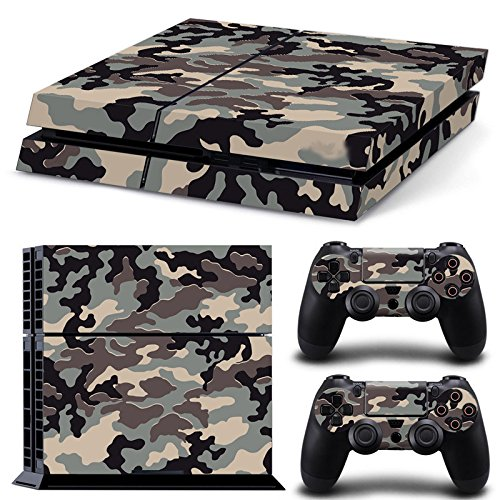 (Gam3Gear Pattern Series Decals Skin Vinyl Sticker for PS4 Console & Controller (NOT PS4 Slim / PS4 Pro) - Grey Urban Camouflage )