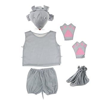 Disfraz Traje de Ratón Lindo Mono Niños Sombrero Camisa Shorts ...