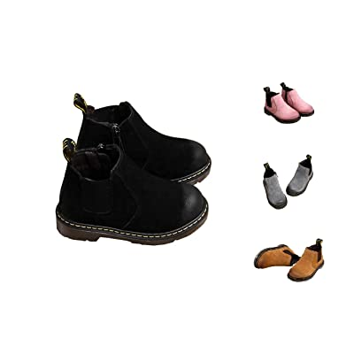 Always Pretty Fashion Girls Boys Leather Ankle Boots Child Martin Boots(Toddler/Little Kid/Big Kid)
