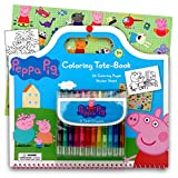 Peppa Pig Art Activity Set With Coloring Book Pages - Stickers & Twist-Up Crayons - Also Included Is 1 Large 3X3 inch Separately Licensed Coloring Sticker