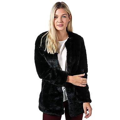 Royaume-Uni disponibilité 160e1 f56fc Vero Moda Veste Fausse Fourrure Valli Noir Femme: Vero Moda ...