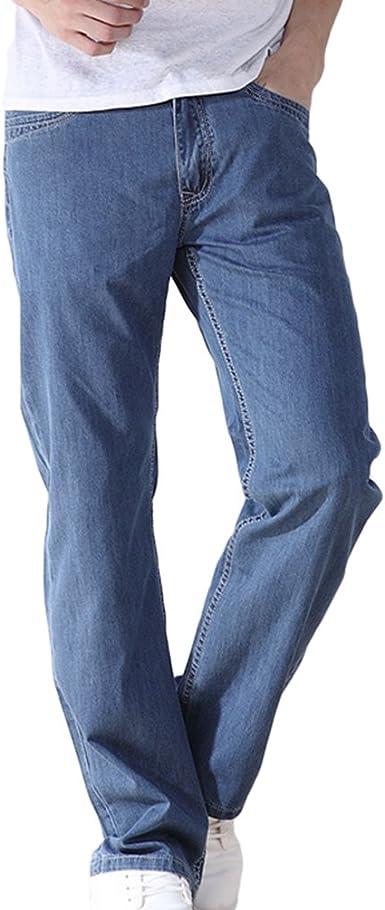 Niseng Hombre Jeans Loose Pantalones Casual Baggy Vaqueros Pantalones Relaxed Fit Jeans Amazon Es Ropa Y Accesorios