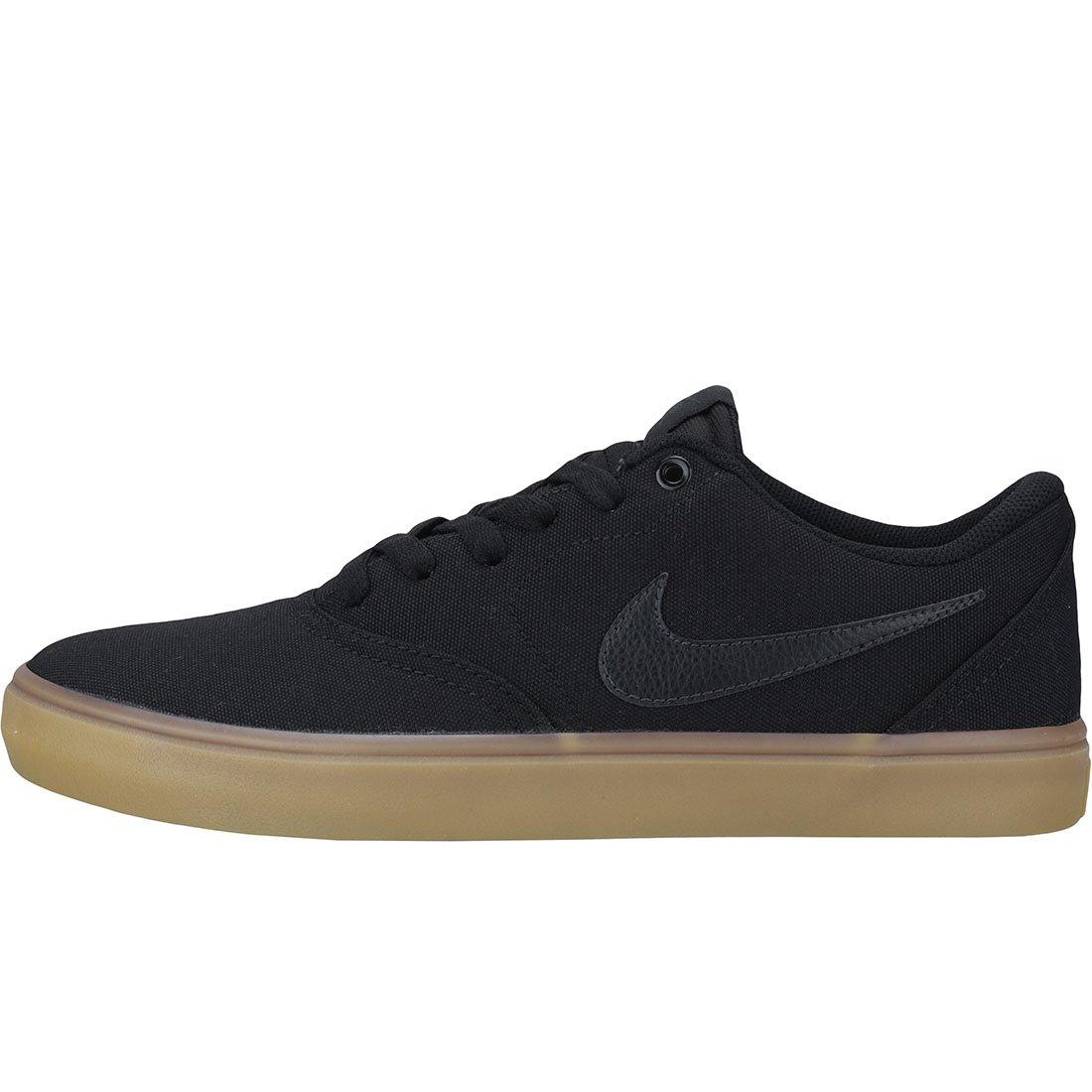 Nike Men's SB Check Solarsoft Canvas Skateboarding Shoes Black/Black-Gum Light Brown 10 by Nike (Image #5)