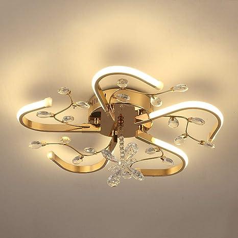 Luz De Techo De Cristal LED Enchapado Integrado Aluminio ...