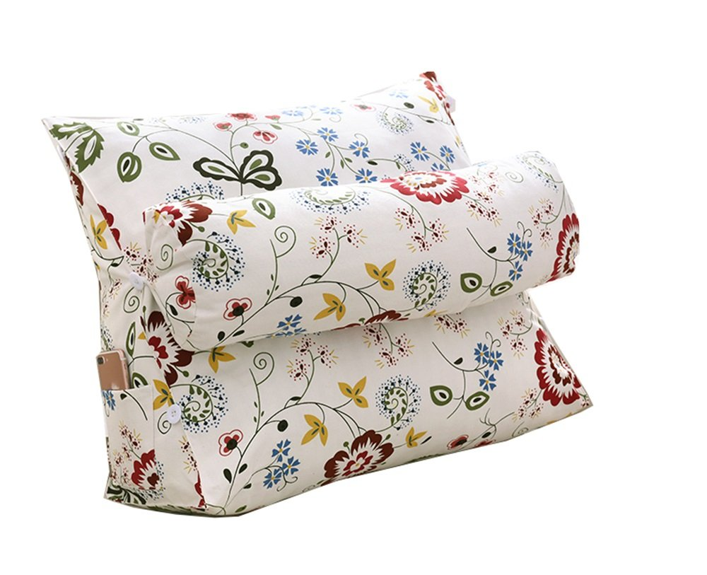 Cushions Bed Back Triangle Pillow, Sofa Office Bay Window Lumbar Pillow Waist Pillow with Head Pillow (Color : C, Size : 502260cm)