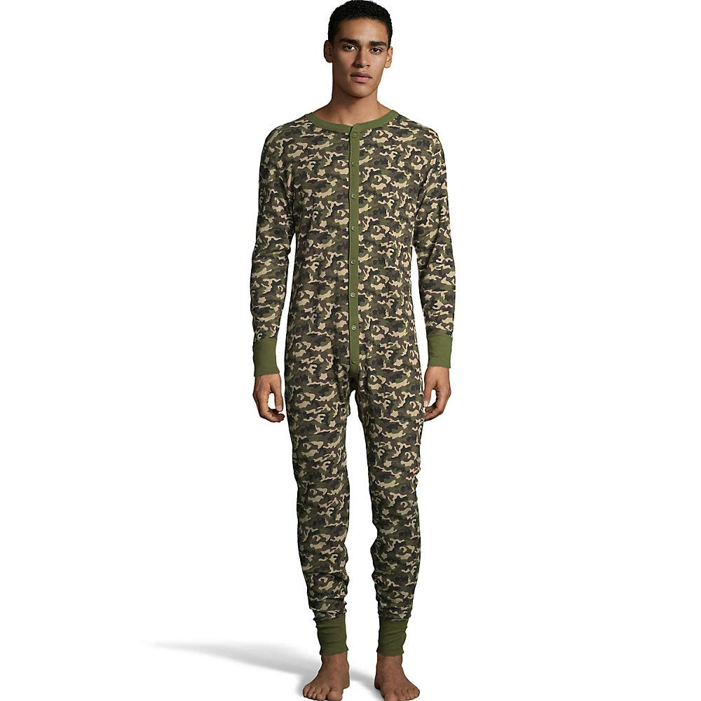 Hanes Men's Camo Waffle Knit Thermal Union Suit by Hanes