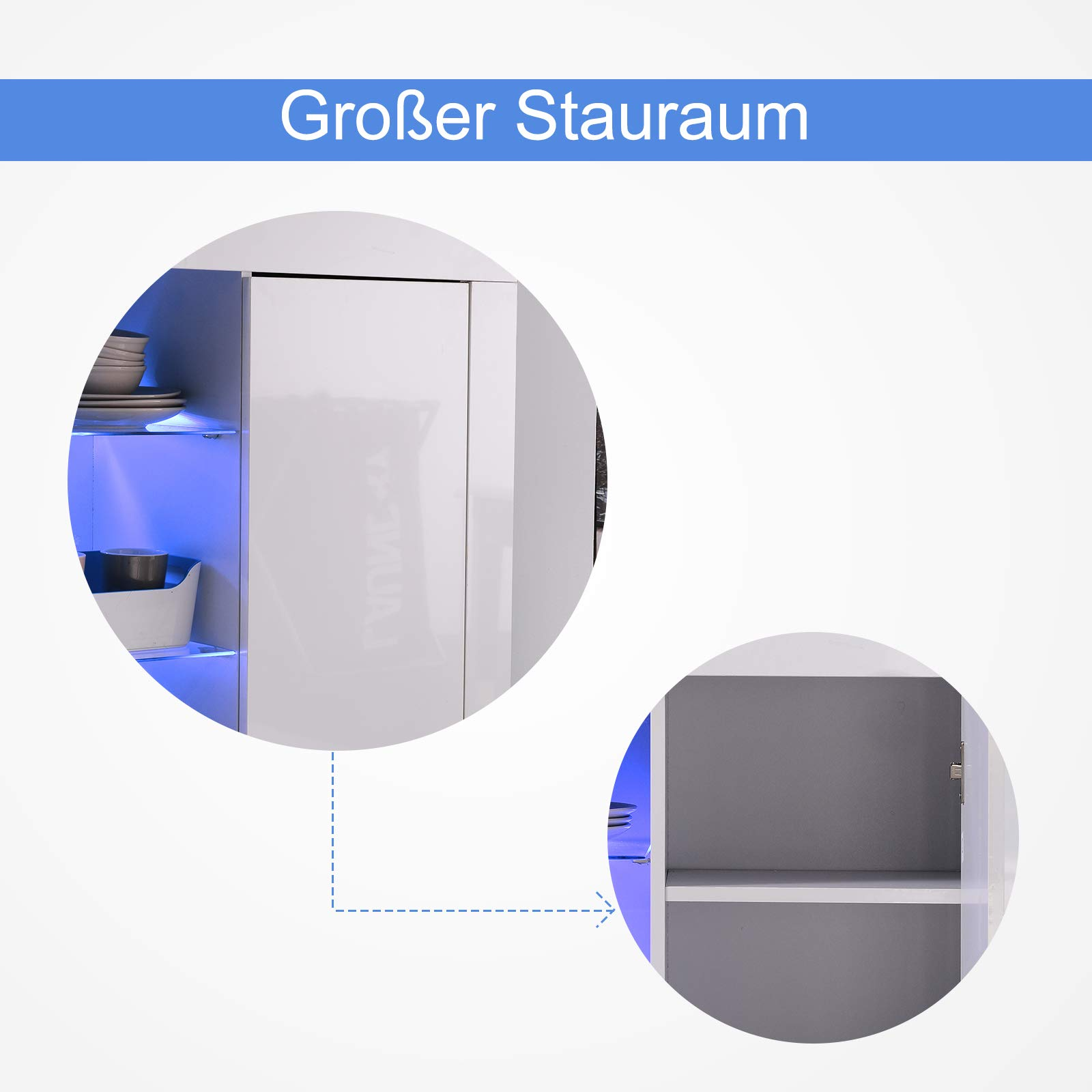 Sideboard Küchenschrank Kommode Anrichte Hochglanz