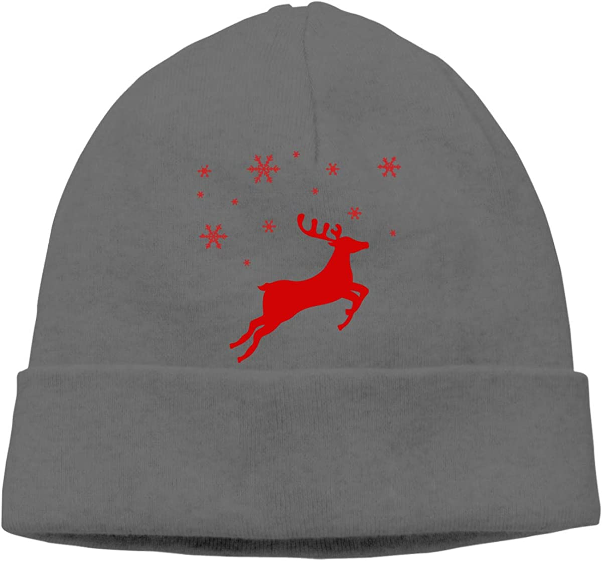 Men//Women Red Reindeer Outdoor Fashion Beanies Hat Soft Winter Skull Caps