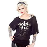 Sourpuss Black Bettie Page Shimmy Dolman Shirt from Clothing