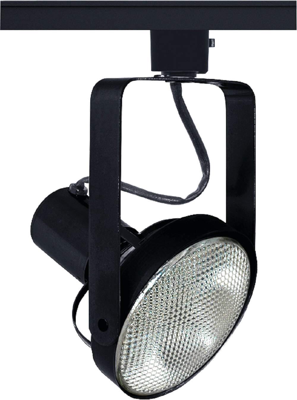 Juno Lighting Group T690BL Trac-Master Front Lamping Gimbal Line Voltage PAR38 Lampholder, Black,