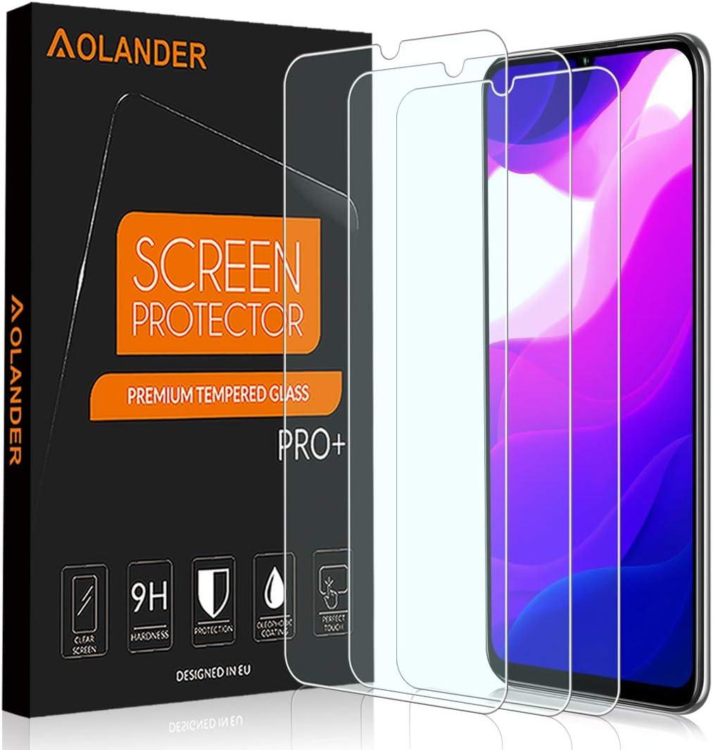 POVINMOS para Xiaomi Mi 10 Lite 5G Cristal Templado Protector de Pantalla, 9H Dureza [2.5D , 0.3mm] [Anti Arañazos] [Alta Definicion] [Sin Burbujas] Screen Protector [3 Pack]