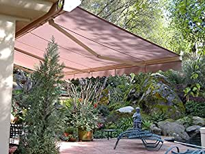 Motorized 16'w x10'd Outdoor Patio Cover Awning Retractable Sun Shade Shelter/ Tan