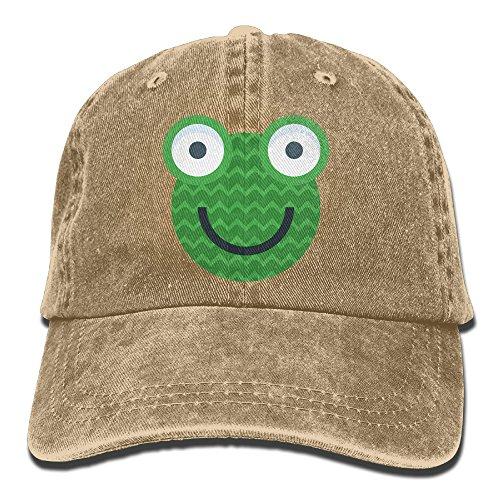 Men Women Frog Icon Adjustable Jeans Baseball Cap Sun (Tro Freshwater Fish)