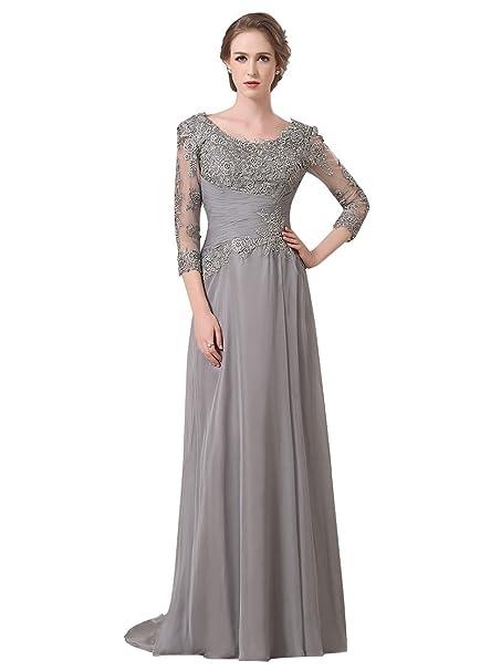 Adasbridal-vestidos de novia de madre de elegante seda de gasa vaina de Escote Scoop