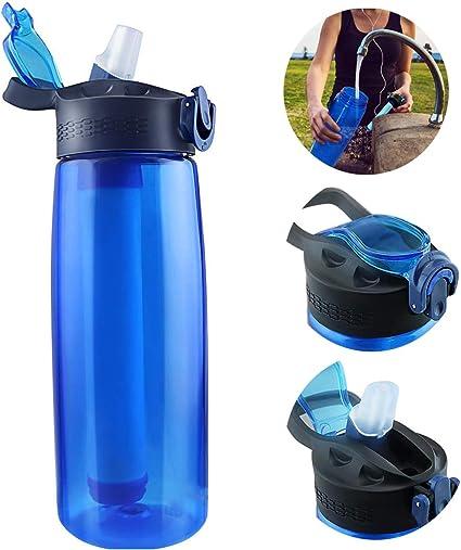 Botella de Agua con Filtro,de Viaje Filtro Integrado Portátil ...