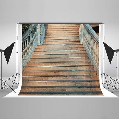 KateHome PHOTOSTUDIOS 3x3m Escaleras Fondo de Madera Retro para Boda Fotos Estudios Apoyos Decoraciones Retrato Telones de Fondo: Amazon.es: Electrónica