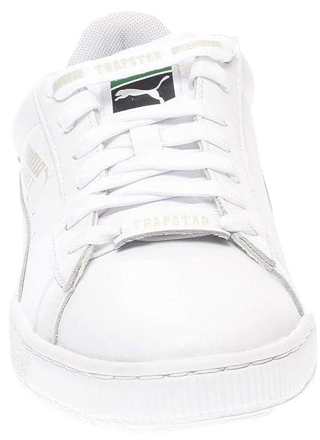 new style 050ba 80637 Amazon.com   PUMA Mens Basket White x Trapstar Athletic   Sneakers    Fashion Sneakers