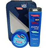 VO5 Extreme Style Rework Gift Set for Him: 150ml Fibre Putty + 250ml 2-in-1 Shampoo & Conditioner
