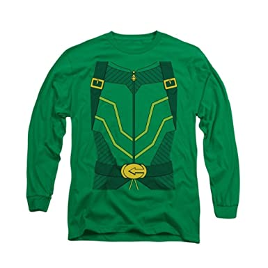 Amazoncom Green Arrow Costume Adult Long Sleeve T Shirt Clothing