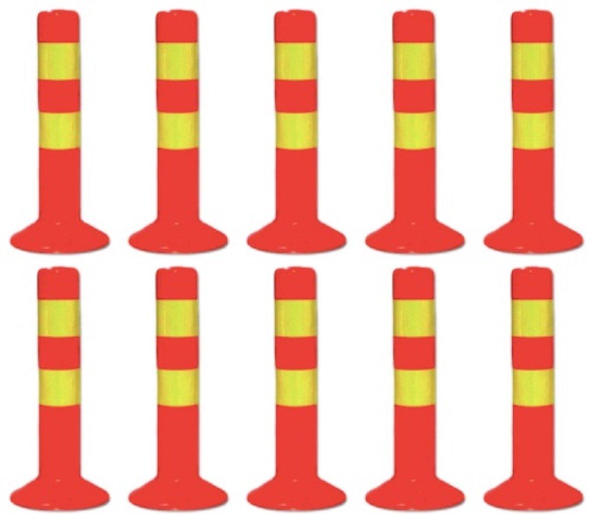 アンカー 付き 駐車ポール コーン ポール 視線誘導標 車線分離標 目印 駐車場 45cm (10) B07BY6VD21