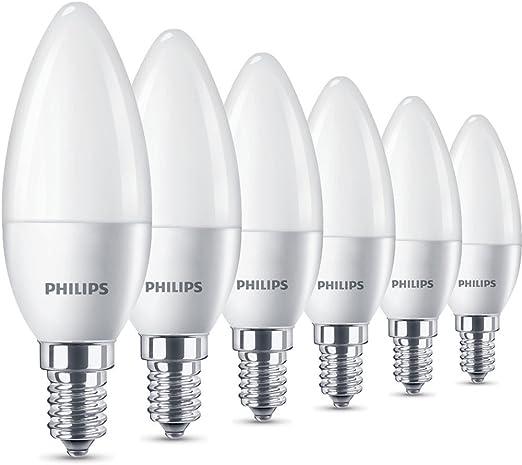 Philips Bombillas LED Vela E14, 5.5 W equivalentes a 40 W en ...