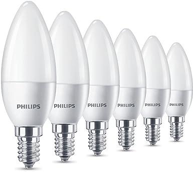 Philips LED Lampe 5,5 W ersetzt 40 W, E14, warmweiß (2700K), 470 ...