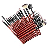 Anjou Makeup Brush Set, 24 pcs Cosmetics Set Professional Eyeliner Shadow Blush Lip