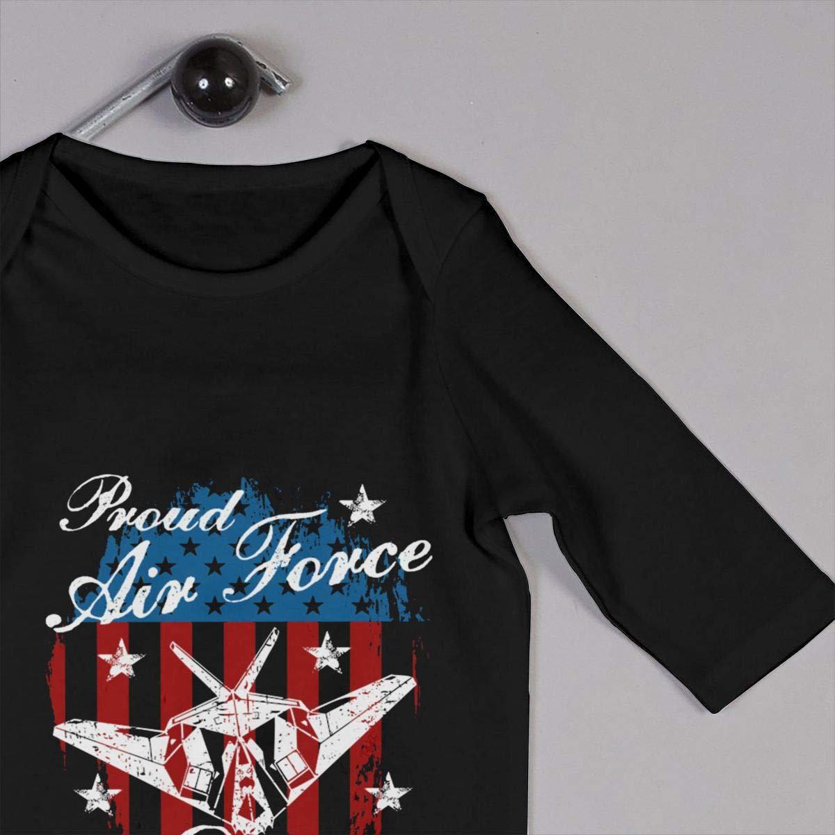Gsaa Proud Air Force Dad Baby Long Sleeve Bodysuit Cotton Romper