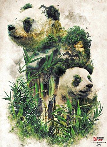China Great Panda Natural Bamboo Landscape Surrealism Animal painting and design Fine Art Painting Signed Giclèe (Landscape Painting Signed)