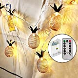 Sunmid Waterproof 10Feet 20 LED Vintage Bronze Color Pineapple LED Night Living Room Bedroom Decor LED String Lights for Xmas Party Home Decoration and All Fashion Party Deco