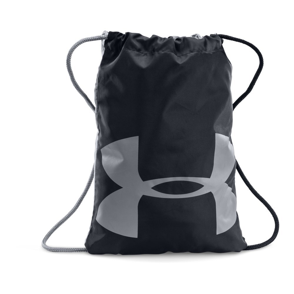 Under Armour Ozsee Sackpack, Black (001)/Steel, One Size Fits All by Under Armour