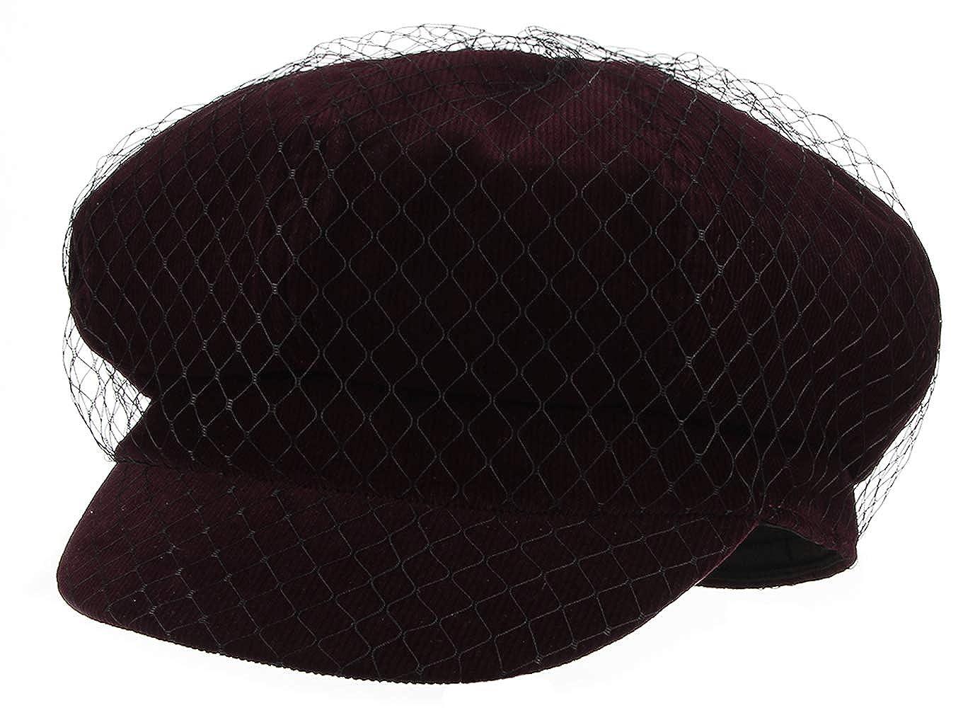 GEMVIE B/éret Homme Hiver Vintage avec Cache-Oreille Casquette Plat Newsboy Ajustable Chapeau Epais pour Hiver