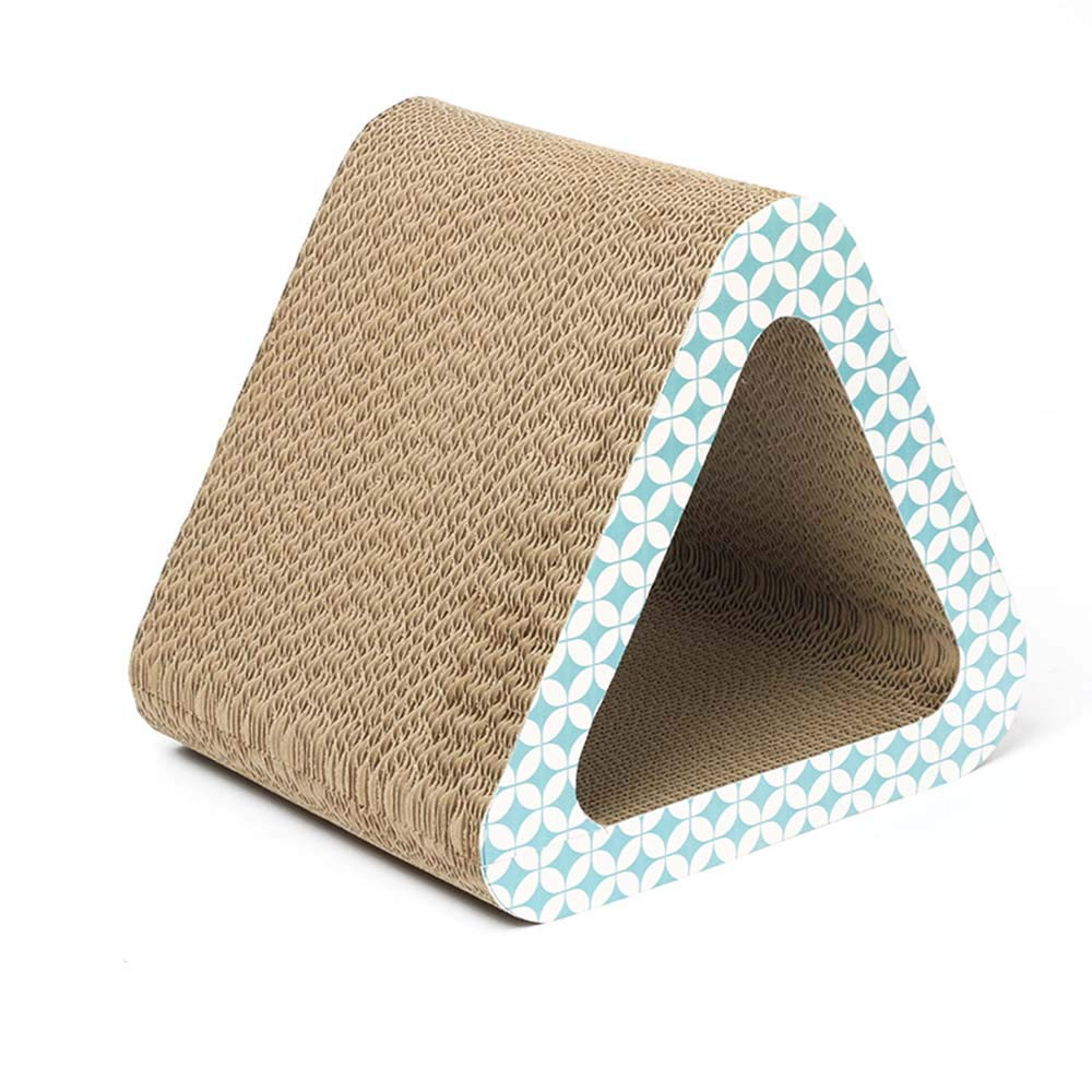 LIZONGFQ Pet Fusion Triangle Vertical Cat Scratching Post,Cat Scratching Condo, Corrugated Cardboard Scratcher Pad Scratch Toy for Big Large Cats by LIZONGFQ