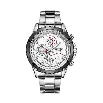 ShBi® Hombre relojes de lujo reloj Quartz impermeable reloj de negocios de acero Strip Watch
