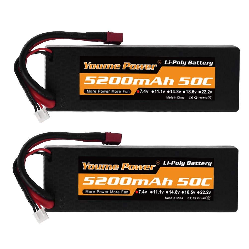 Baterias Lipo (2) 7.4v 5200mah Rc Youme