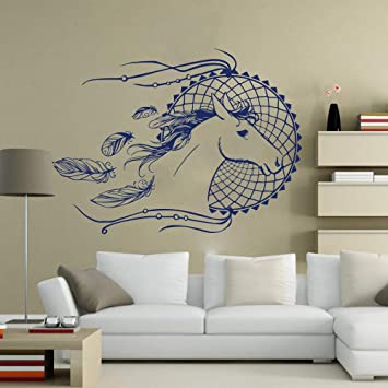 Dream Catcher Feathers Wall Kids Room Decorative Pvc Mural Decal Decors Stickers