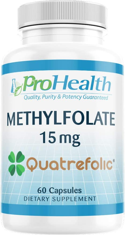 ProHealth Methylfolate with Gnosis Quatrefolic 15 mg, 60 Capsules Professional Strength Active Folate